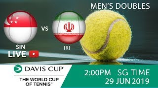 Singapore 🇸🇬 vs 🇮🇷 Iran Doubles Match  | Davis Cup Asia Oceania Group III