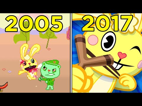 Evolution Of Happy Tree Friends Games 2005-2017