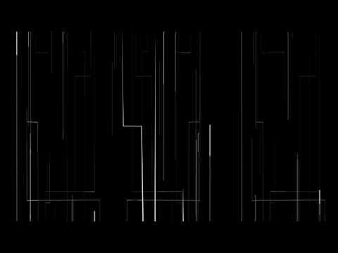 Digital White Lines Moving | 4K Relaxing Screensaver