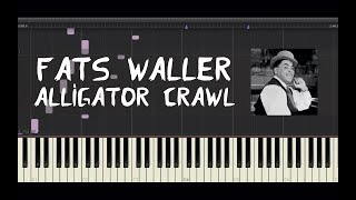 Fats Waller - Alligator Crawl - Piano Tutorial by Amadeus (Synthesia)