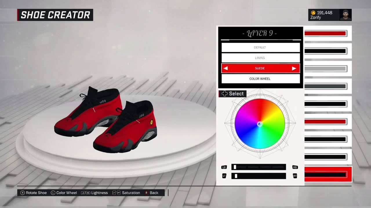 f025b6a5e747 NBA 2K17 Shoe Creator - Air Jordan 14 Low Custom