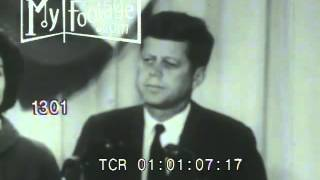 Stock Footage - JFK GIVES PRESIDENTIAL ELECTION VICTORY SPEECH, NOVEMBER 9th, 1960