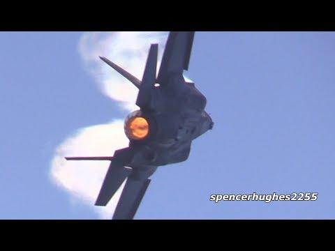 AMAZING F-35 & F-16 Display Huntington Beach Air Show