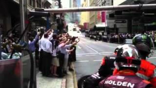 V8 Supercar 88 Team Vodafone in Brisbane city