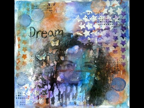 Photo transfer Mixed Media Art Journal page tutorial