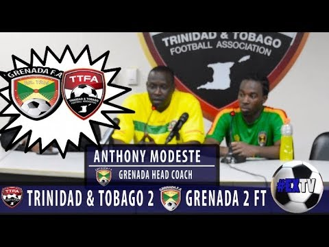 Grenada 2 Trinidad & Tobago 2 - Anthony Modeste and Shadon Brown Post Match Comments