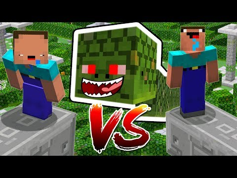 1,000 MINECRAFT NAGA BOSSES vs 2 NOOBS!!