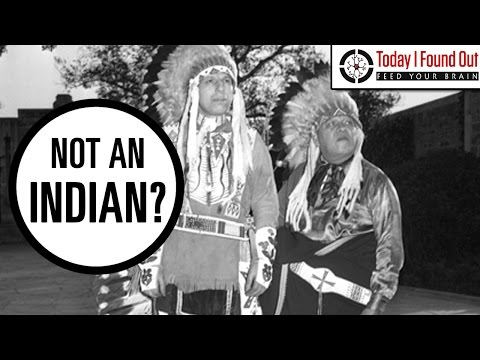 "The Famous ""Crying Indian"" Who Wasn't"