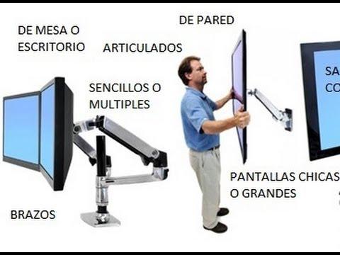 Soporte para 2 monitores brazo pantallas mesa lcd led for Soporte mesa tv samsung