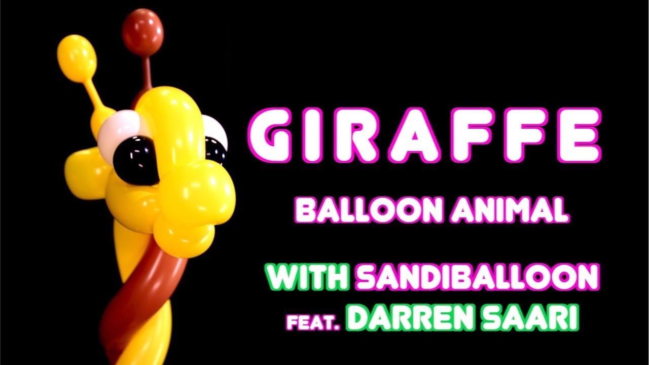 aa76bab2 Giraffe ~ Balloon Animal Tutorial. Sandi Masori