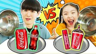 신기한 콜라립밤!! 립스틱vs음료수 리얼푸드 복불복 대결 Real Food VS Candy Food Challenge!!! - 마슈토이 Mashu ToysReview