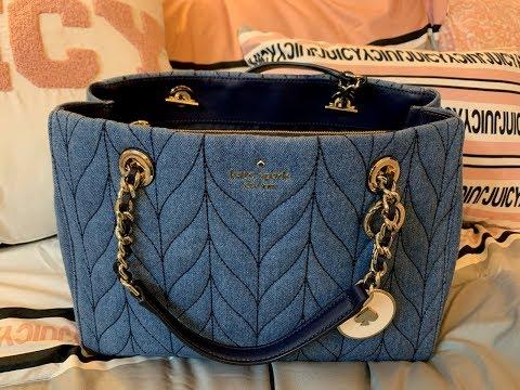 What's in my Meena Kate Spade Denim Satchel Bag