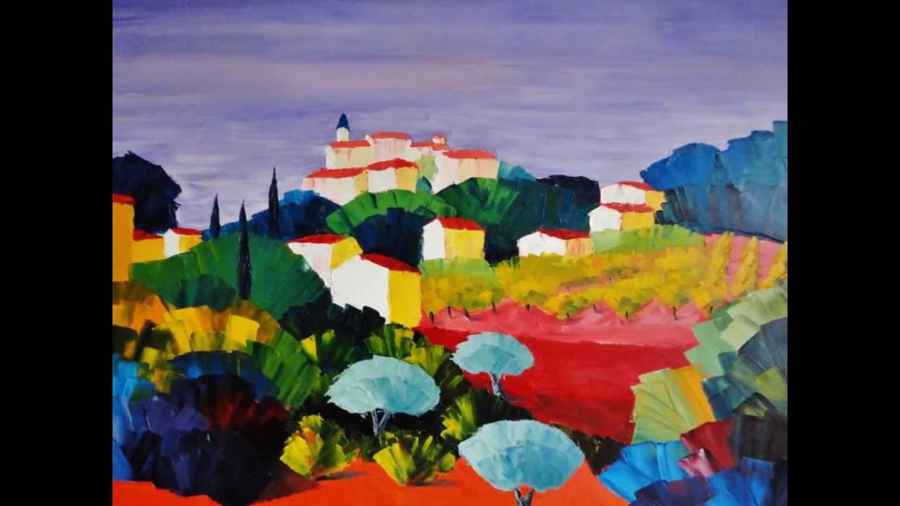 Préférence Paysages de Provence - de Serge Gaudou Artiste Peintre - YouTube SX55
