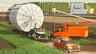 MASSIVE GRAIN SILO HEAVY HAUL - NEBRASKA LANDS SEASONS FS19 (ROLEPLAY)