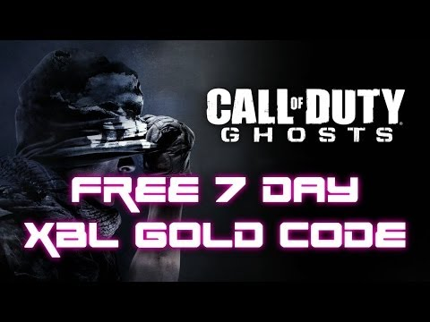 Call Of Duty: Ghosts & FREE 7 DAY XBOX LIVE GOLD CODE