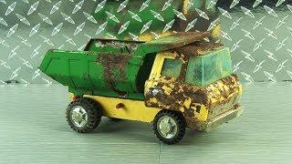 50 Yr Old Toy Dump Truck Restoration! Kipkay Restored