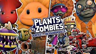 WSZYSTKIE POSTACIE w Plants vs Zombies Battle for Neighborville