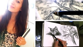 New Sketchbook   Goodbye Art Studio   Lena's Art Diary #12