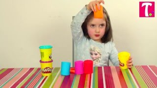 Play-doh Stampers | How to make Play-doh Stampers | LittleTina