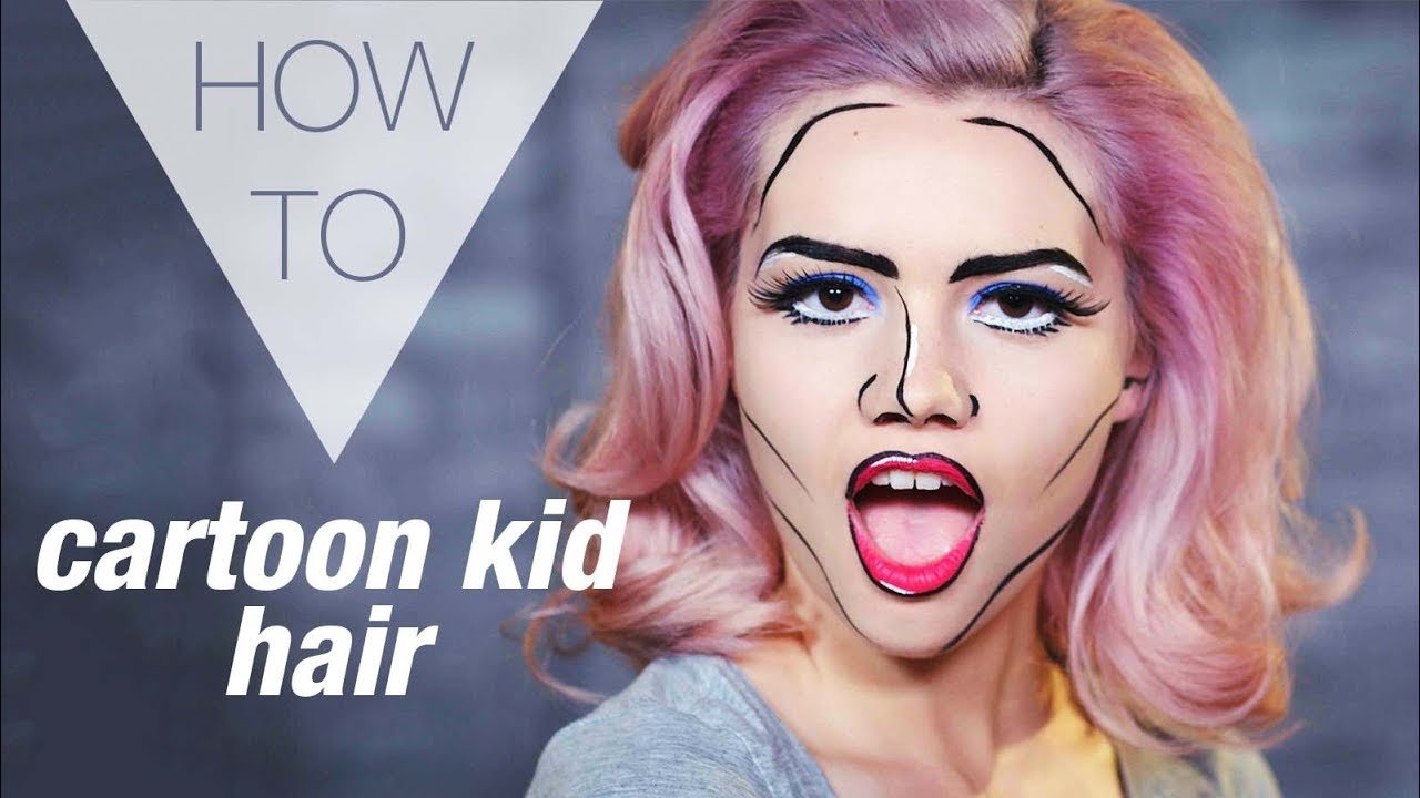 how to draw pop art hair