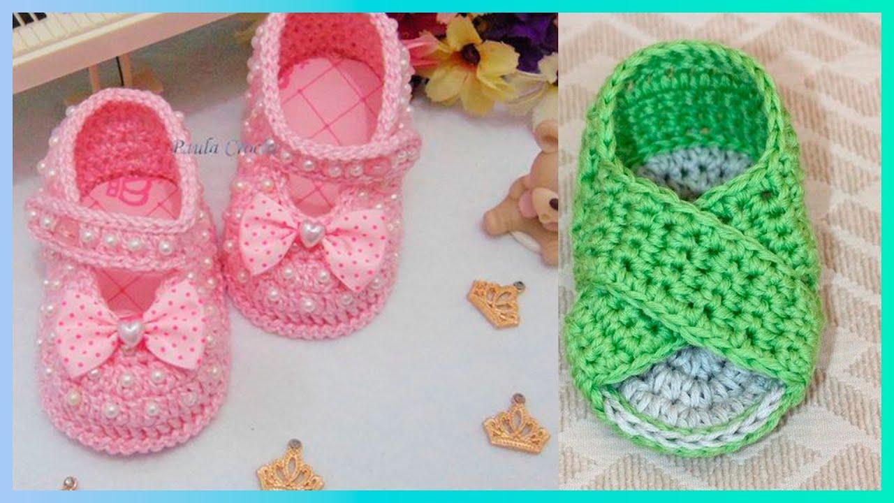 Increíbles 🎀 Zapaticos tejidos a crochet