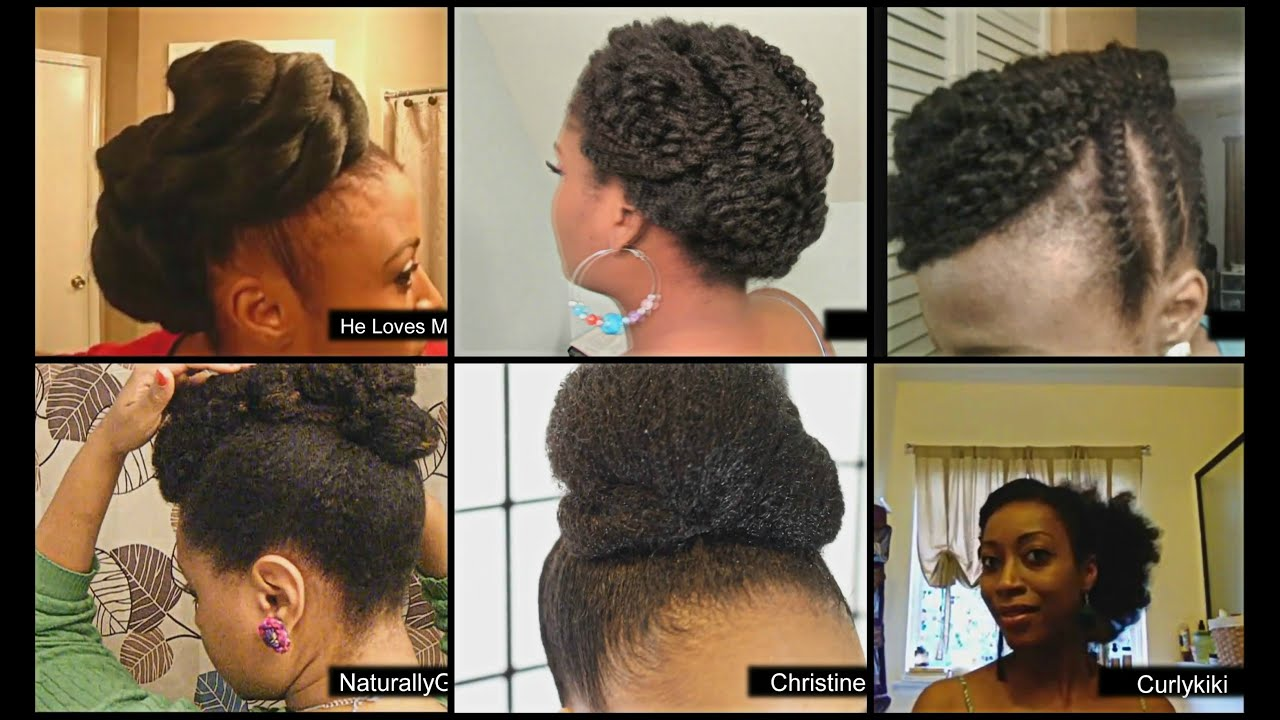 Natural Hairstyles Lookbook Fall Winter Updo Protective