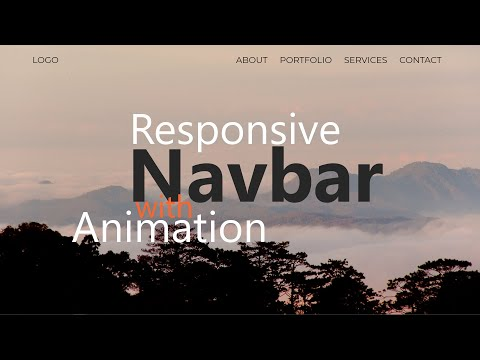 Animated Responsive Navbar With Mobile Mega Menu Tutorial - (SCSS)