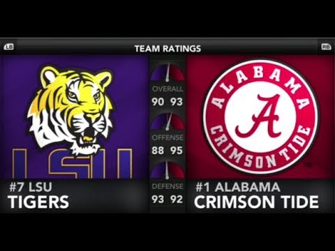 LSU VS ALABAMA 2019 NCAA 20 SIMULATION NCAA 14 UPDATED ROSTERS