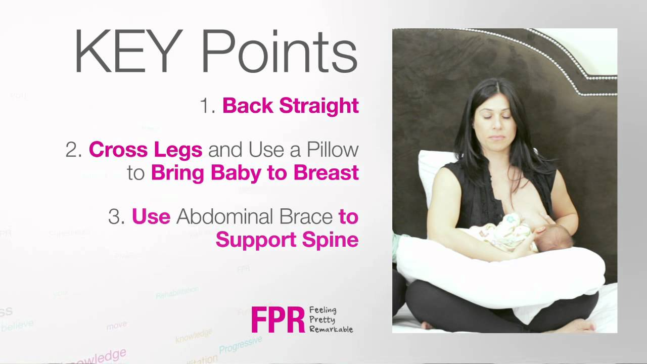 How To: Breast Feed Sitting Up In Bed  How To Prevent & Reduce Low Back  Pain During Motherhood