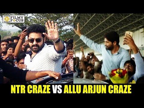 NTR Fans vs Allu Arjun Fans || Whose Craze is on Peaks - Filmyfocus.com
