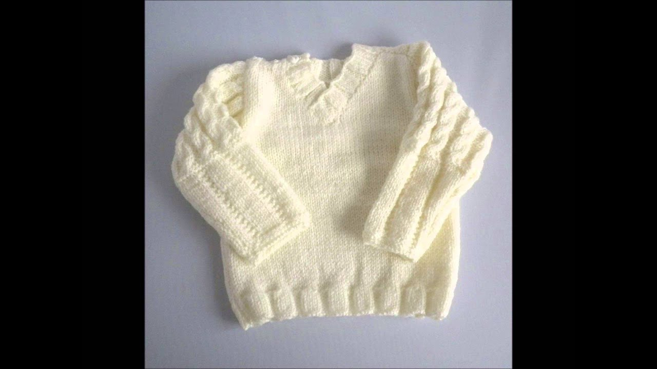hand knitted baby clothes - YouTube