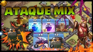 DRAGONES, SABUESOS Y TERREMOTOS - ATAQUE MIX - Clash of Clans - Español - CoC