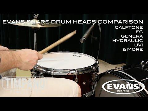 ULTIMATE Evans Snare Drum Heads Comparison - Timpano Percussion