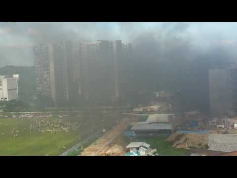 Fire at construction site in Punggol