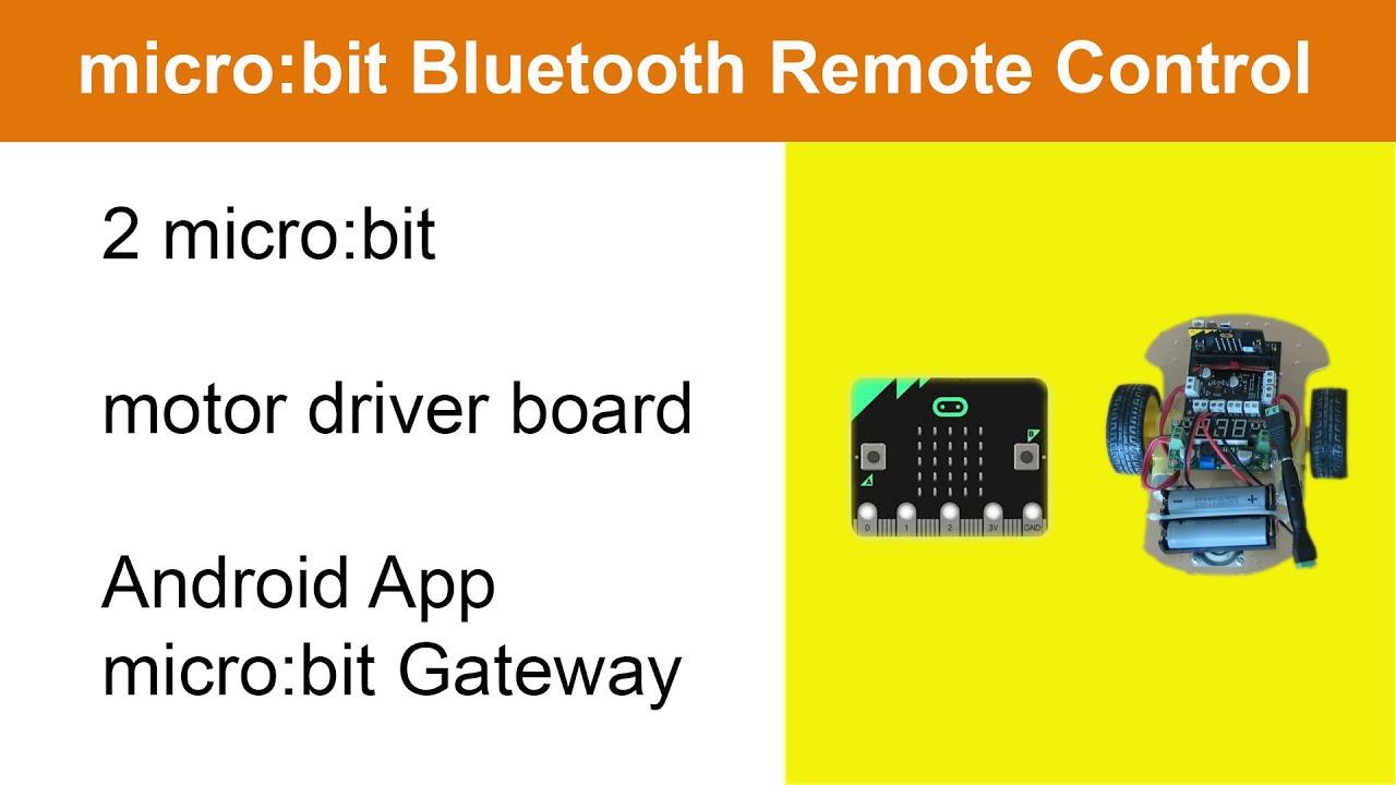 Micro Bit Motor Driver Board And Micro Bit Bluetooth