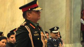 President Conferring General of the Indian Army to Chief of the Army Staff, Nepalese Army-8-1-13