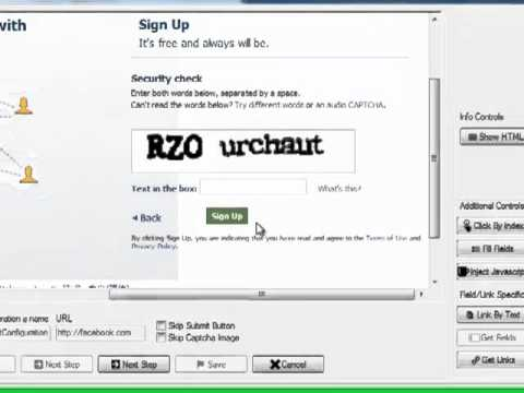 Automator Software Tut 1 - A Simple Facebook SignUp Macro