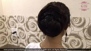 ASMR Braided Bun | Easy Braided Hair Bun Tutorial | Quick Braided Bun | 2 Mins Braided Bun Hairstyle