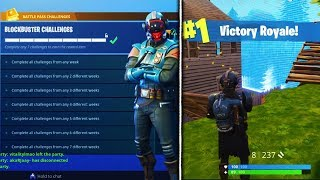 *NEW* VISITOR SKIN GAMEPLAY SHOWCASING! - Fortnite Blockbuster Challenge Complete ✔️