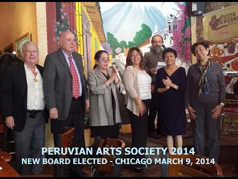 Peruvian Arts Society 2014 - Chicago - New Board 3/9/14