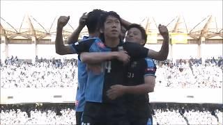 中村 憲剛(川崎F)がFKのチャンスを直接沈め、先制弾となるシーズン3...