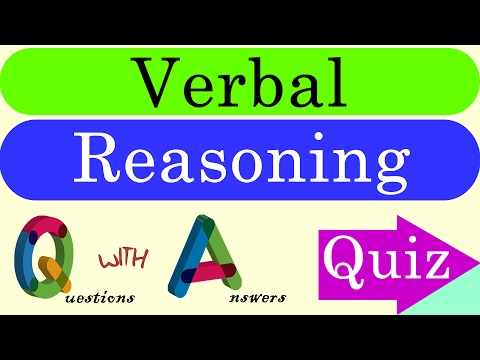 Verbal Reasoning Questions with Answers