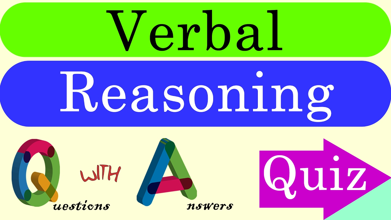 Verbal Reasoning Questions With Answers Youtube