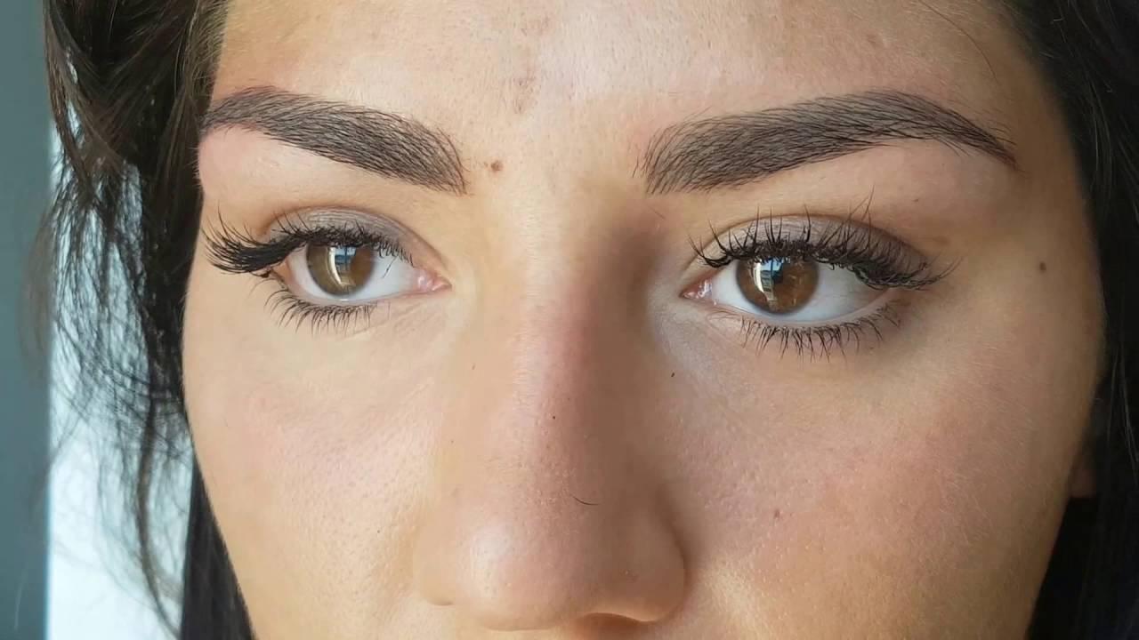 Brwi Metoda Piórkowa Porównanie Przed Po Makijaż Permanentny