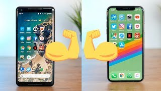 iPHONE X vs Google PIXEL 2 XL, ¿cuál es el más RÁPIDO?