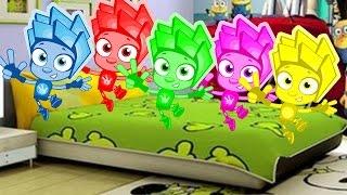 Фиксики Новая Песенка Познавательные мультики для детей 5 малышей прыгали на кроватке