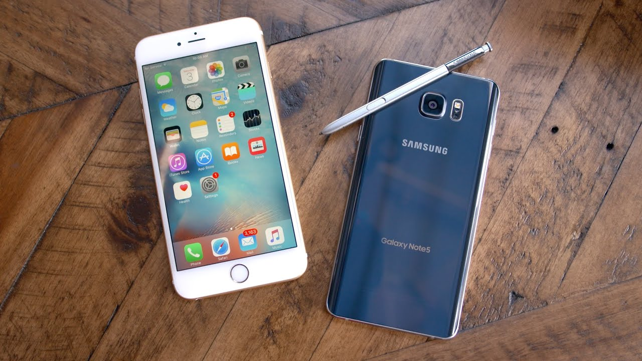 Apple iPhone 6s Plus vs Samsung Galaxy Note 5! - YouTube 7da7b798d72