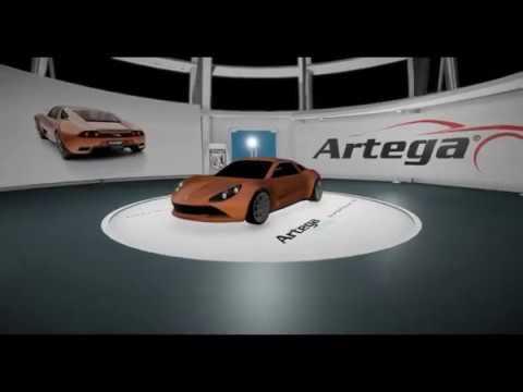 Artega VR Showroom IAA 2017 - Qwellcode GmbH Fair Booth at New Mobility World