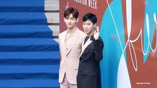 [4K] 180320 동방신기 (TVXQ) - 유노윤호 & 최강창민  2018 F/W 헤라 서울 패션…