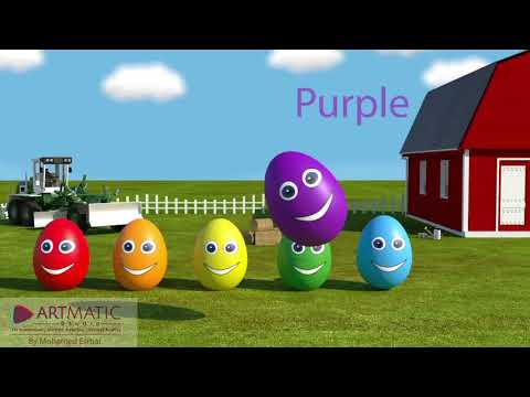 English Learning For Children Rainbow Colors Eggs Изучение английского языка детьми цвета радуги